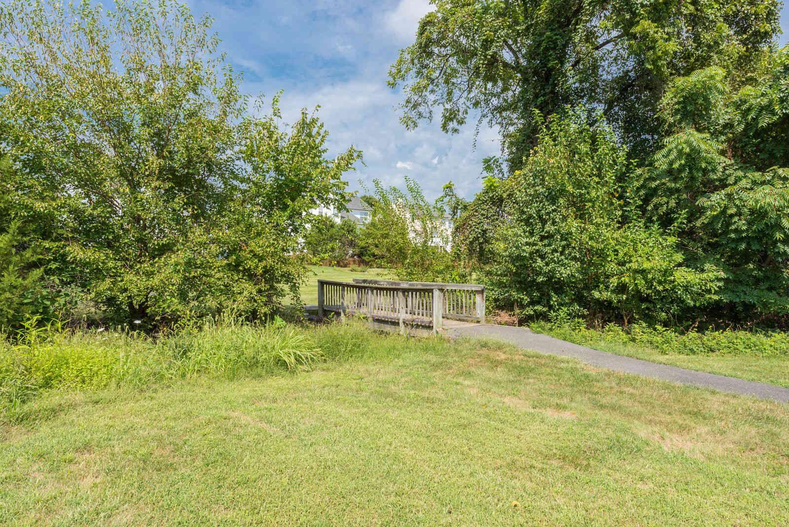 Bridge in the common area of Carisbrooke HOA